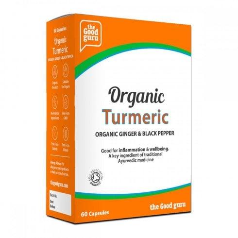 the Good guru Organic Turmeric, Ginger & Black Pepper 60's