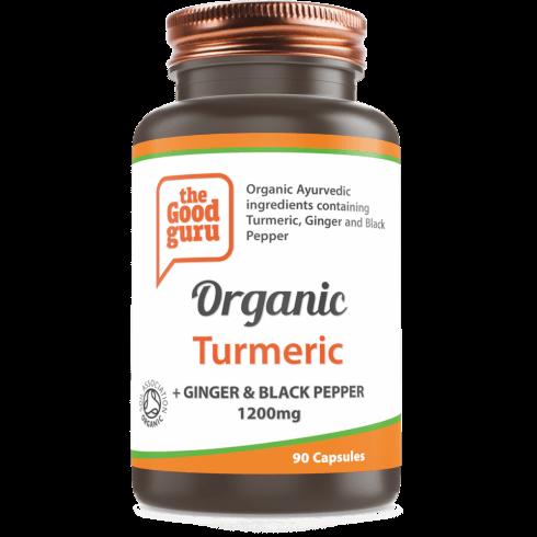the Good guru Organic Turmeric + Ginger & Black Pepper 90's
