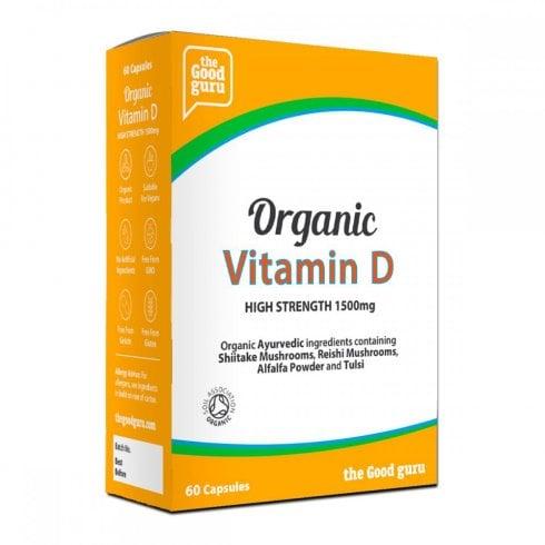 the Good guru Organic Vitamin D High Strength 1500mg 60's