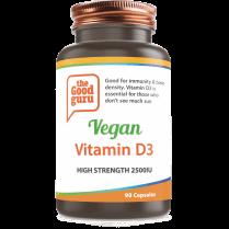the Good guru Vegan Vitamin D3 High Strength 2500iu 90's