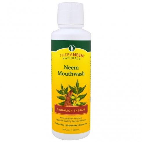 Theraneem Naturals Neem Mouthwash Cinnamon Therape 16floz
