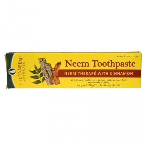 Theraneem Naturals Neem Toothpaste Neem Therape with Cinnamon 120g