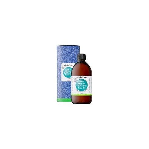 Viridian 100% Organic Golden Flaxseed Oil 500ml