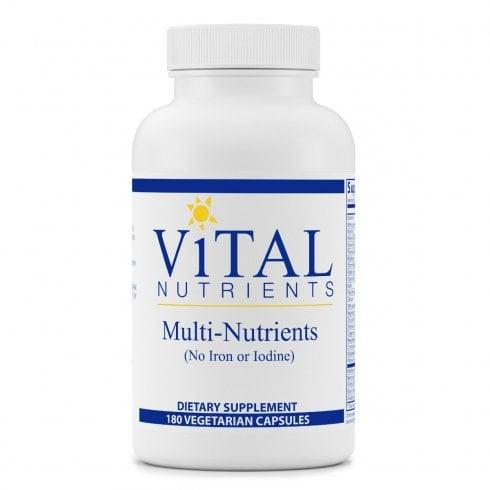 Vital Nutrients Multi Nutrients - No Iron or Iodine - 180 Capsules