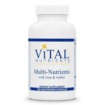 Vital Nutrients Multi Nutrients with Iron & Iodine - 180 Capsules