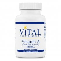 Vital Nutrients Vitamin A (from Fish Liver Oil) 3.0mg 10,000IU - 100 Softgel