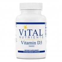 Vital Nutrients Vitamin D3 5,000 IU - 90 Capsules