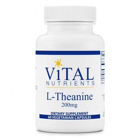 Vital Nutritents L-Theanine 200mg - 60 Capsules