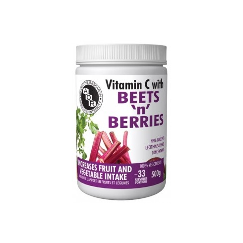 AOR Vitamin C with beets and berries - 500g powder - 33 servings