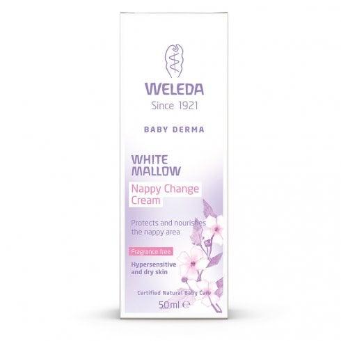 Weleda White Mallow Nappy Change Cream 50ml (Fragrance Free)