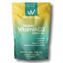 Well.Actually. Vegan Vitamin D3 1000iu 90's