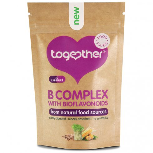 Together Whole Food Based Vitamin B (30 Capsules With Bioflavonoids)