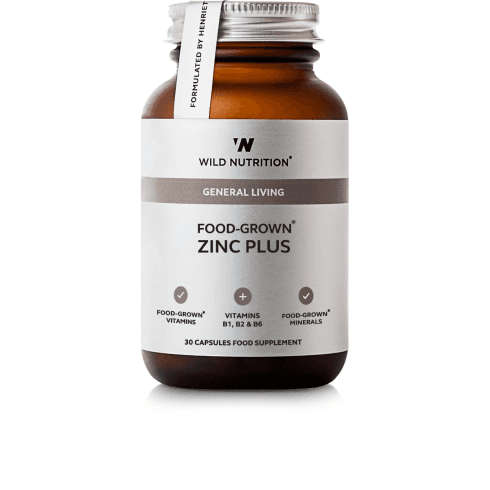 Wild Nutrition Zinc Plus Food-Grown - 30 Capsules