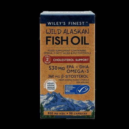 Wiley's Finest Wild Alaskan Fish Oil Cholesterol Support 90's