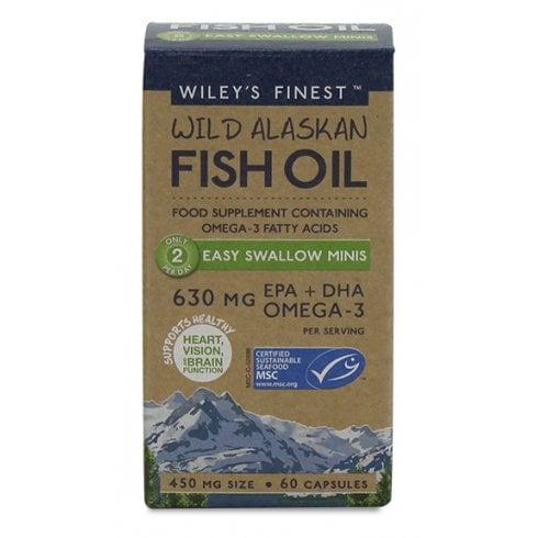 Wiley's Finest Wild Alaskan Fish Oil Easy Swallow Minis 60's