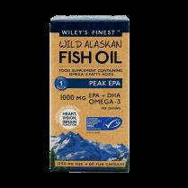 Wiley's Finest Wild Alaskan Fish Oil Peak EPA 1000mg 60's