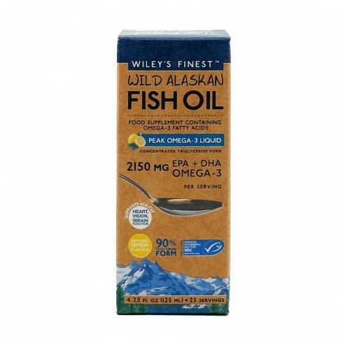 Wiley's Finest Wild Alaskan Fish Oil Peak Omega-3 Liquid 2150mg (Lemon) 125ml