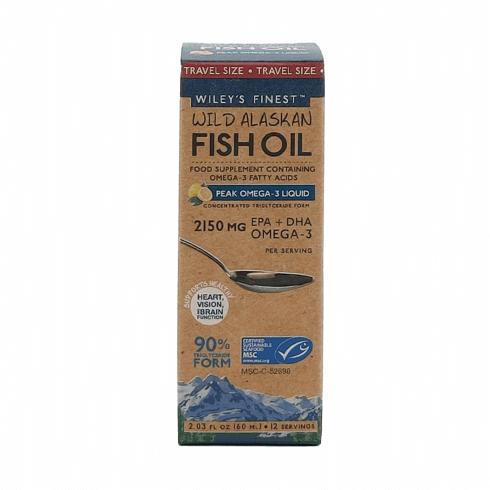 Wiley's Finest Wild Alaskan Fish Oil Peak Omega-3 Liquid 2150MG (Lemon) 60ml