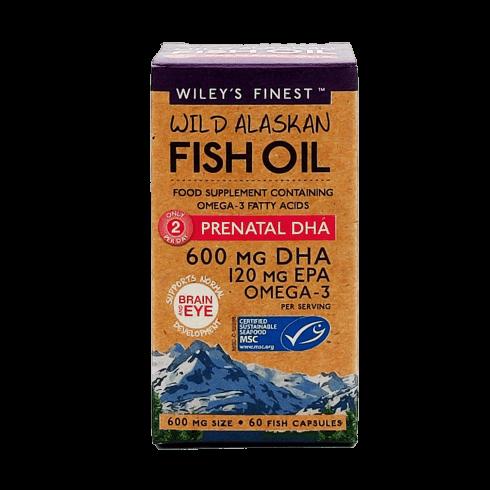 Wiley's Finest Wild Alaskan Fish Oil PRENATAL DHA 600mg 60's