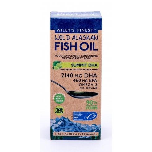 Wiley's Finest Wild Alaskan Fish Oil Summit DHA 125ml
