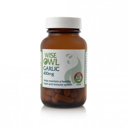 Wise Owl Organic Garlic 400mg 60's