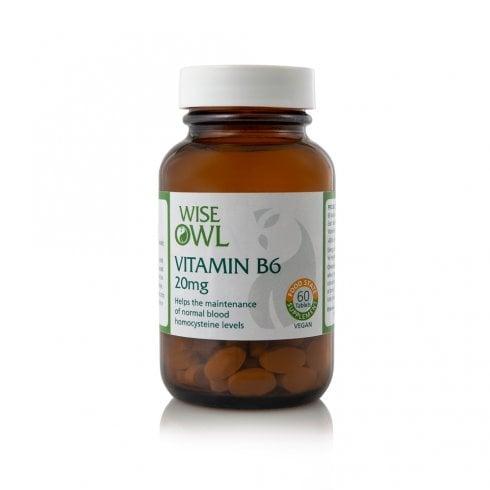 Wise Owl Vitamin B6 20mg 60's