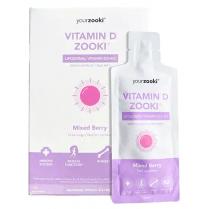 yourzooki Liposomal Vitamin D3+ K2 3000IU Mixed Berry 15ml Sachets